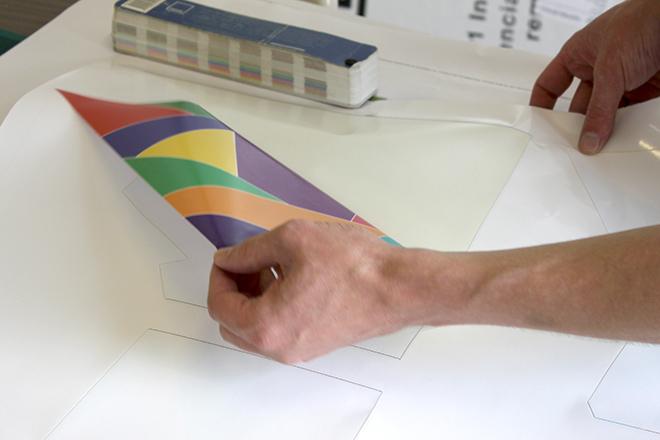 Reverse printed window graphics