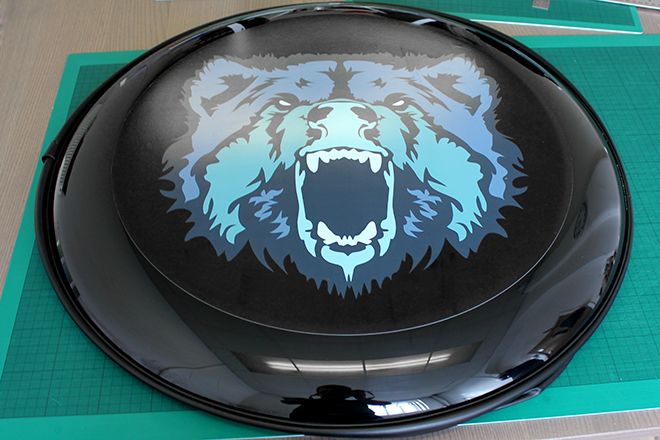 Graphic wheel cover
