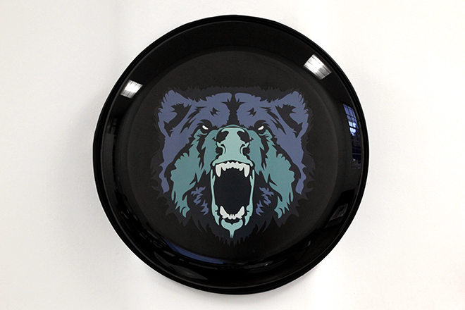 Black custom wheel cover graphics