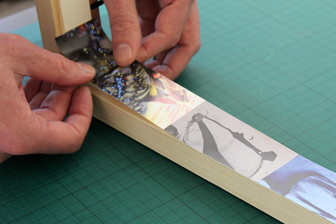 Wrapping a picture frame