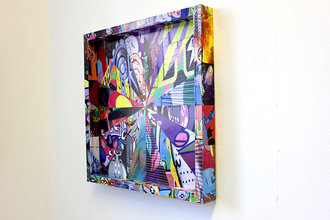 Graphic wrapped picture frame