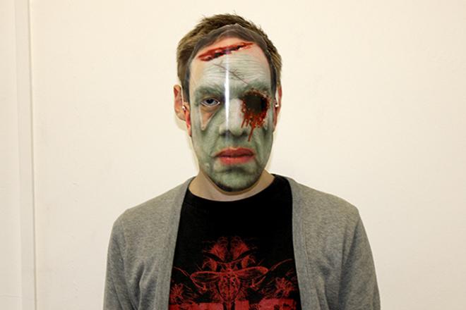 Printed halloween mask