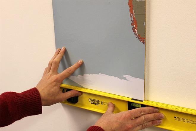 Cork map sticker tile