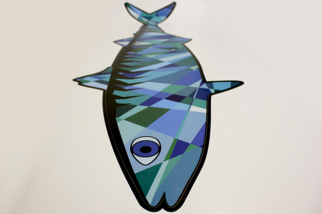 Wall sticker mackerel detail
