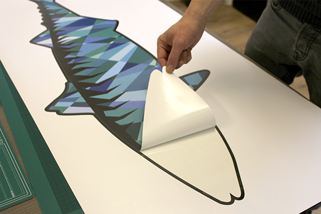Wall sticker mackerel peel off