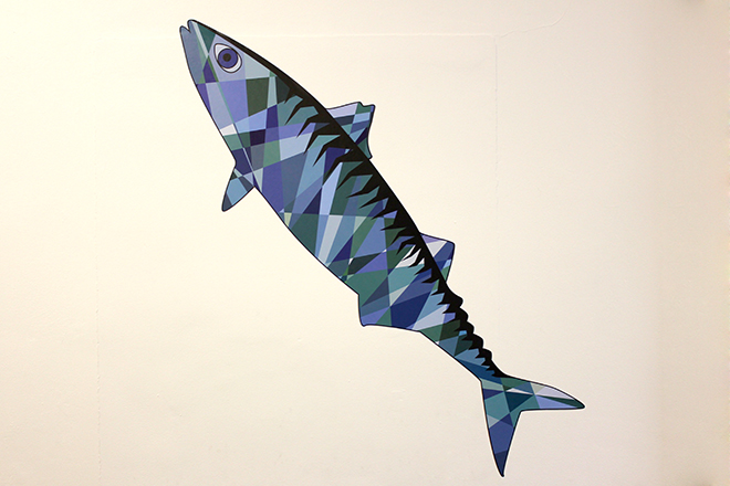 Wall sticker mackerel