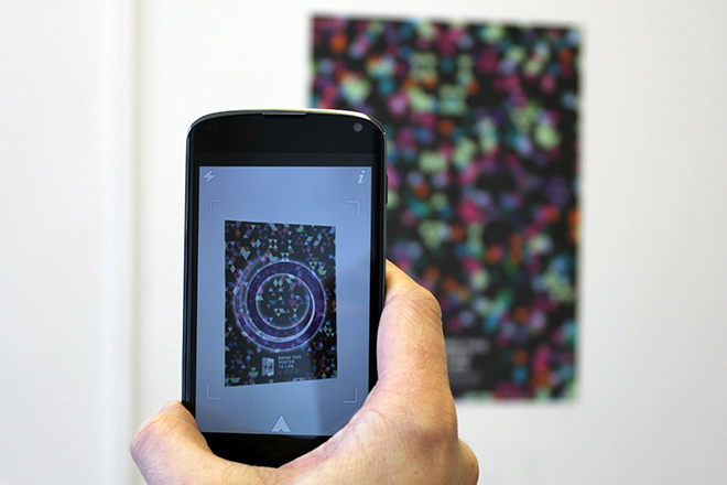 Augmented reality poster interactive animation