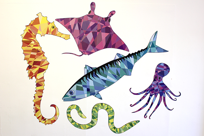 Wall stickers sea creatures