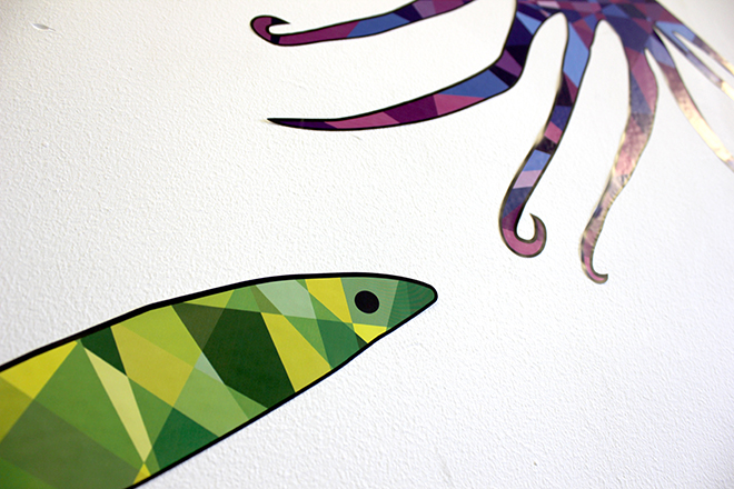 Wall stickers sea creatures detail