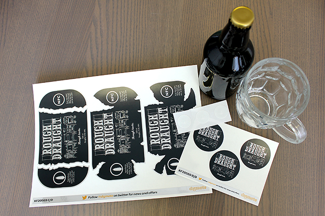Rough Draught NFC beer label stickers