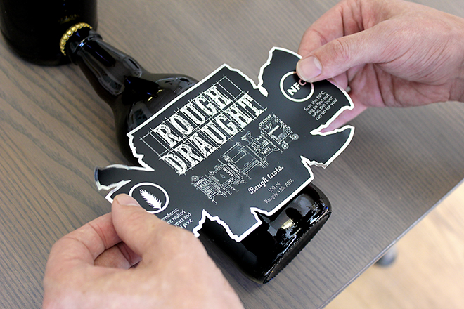 Rough Draught NFC beer label application