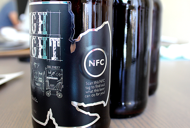 Rough Draught interactive NFC beer labels
