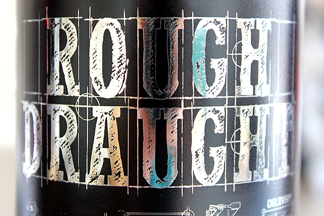 Rough Draught NFC beer label detail