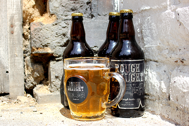 Rough Draught NFC beer and glass labels