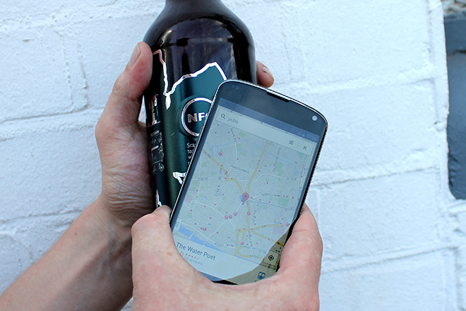 Rough Draught interactive NFC beer label