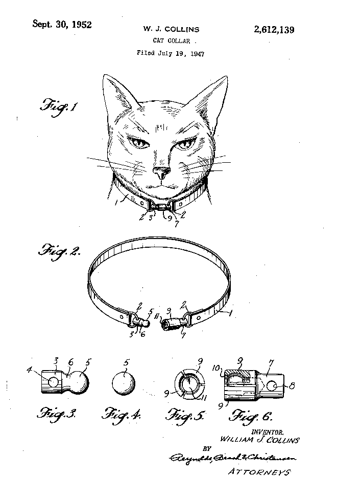 Cat patent illustration – US2612139-0