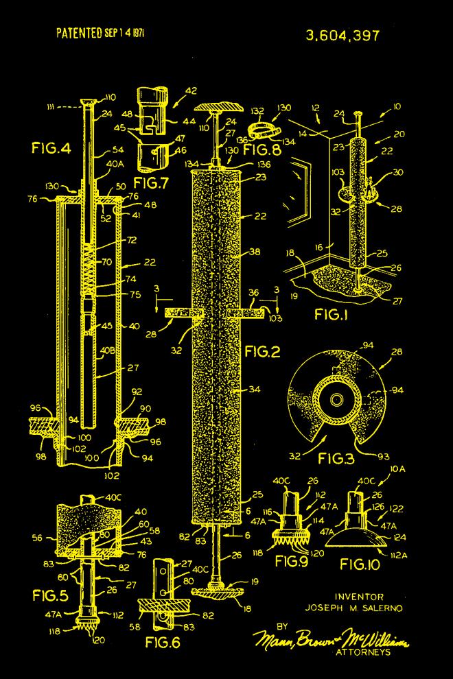 Cat patent print yellow – US3604397-1
