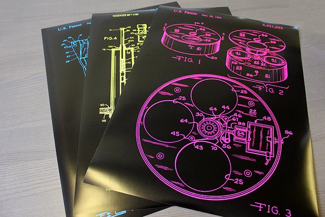 Cat patent prints