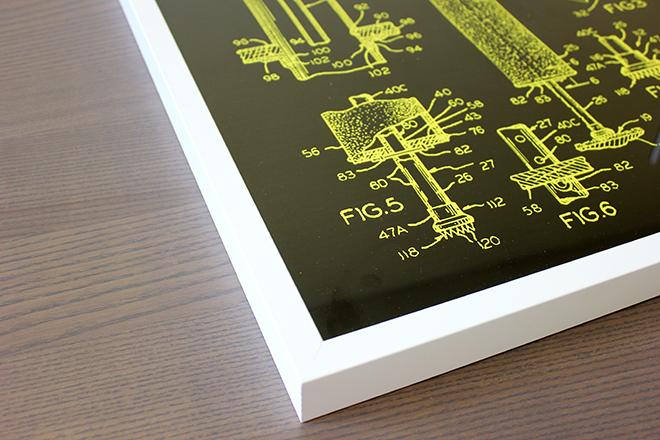 framed patent poster