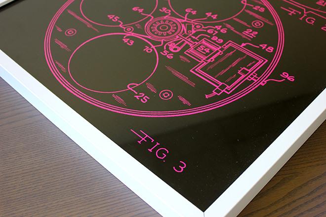 framed patent print