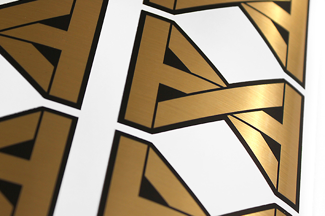 Brushed Gold Stickers
