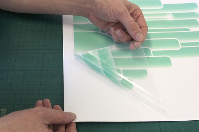 clear vinyl graphic