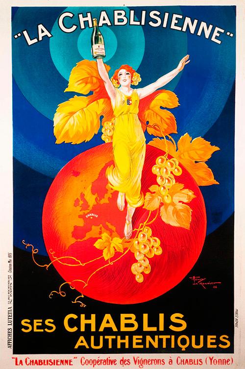 vintage chablis poster