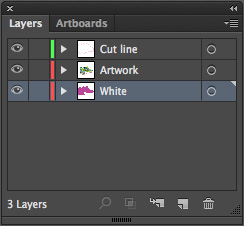 Layers for sticker printing