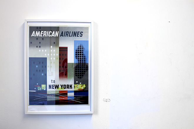 framed american airlines poster print
