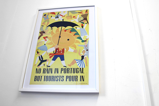 framed portugal tourism poster