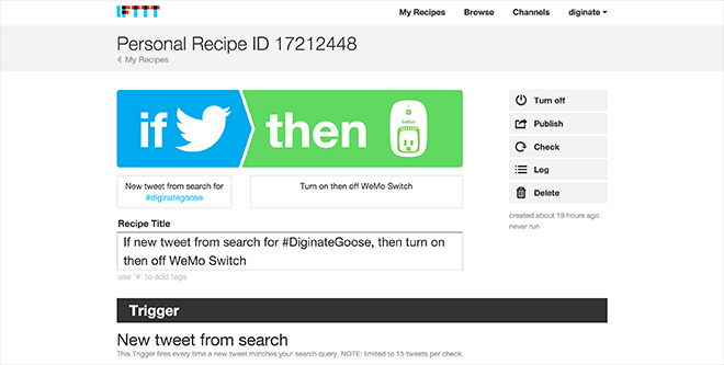 ifttt recipe for christmas