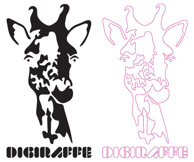 giraffe stencil cutline