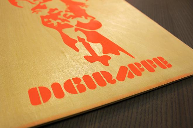 orange giraffe stencil