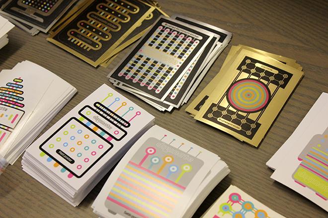 metallic sticker samples