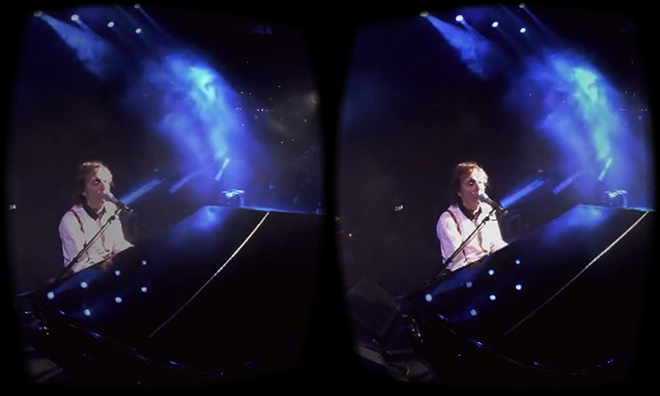paul mccartney on google cardboard