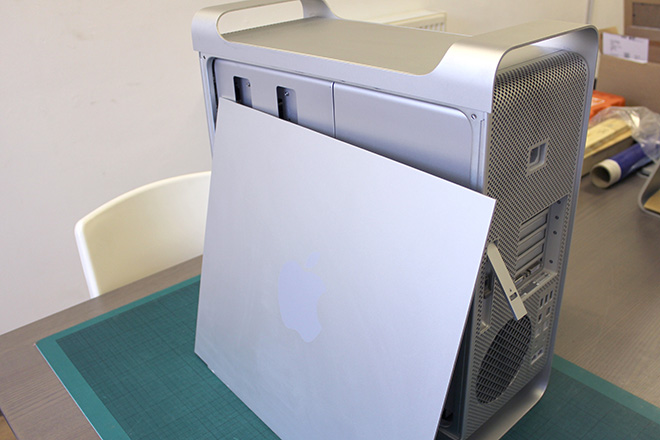 apple mac pro side panel removed