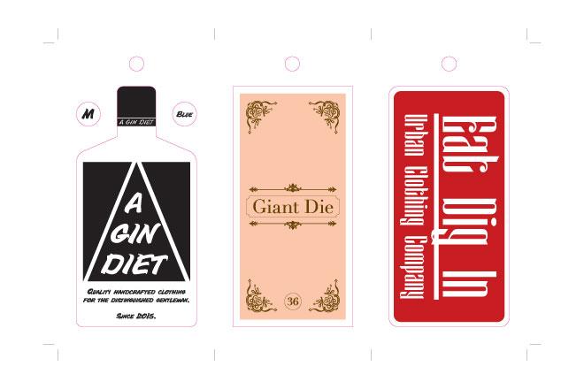 clothing label artwork