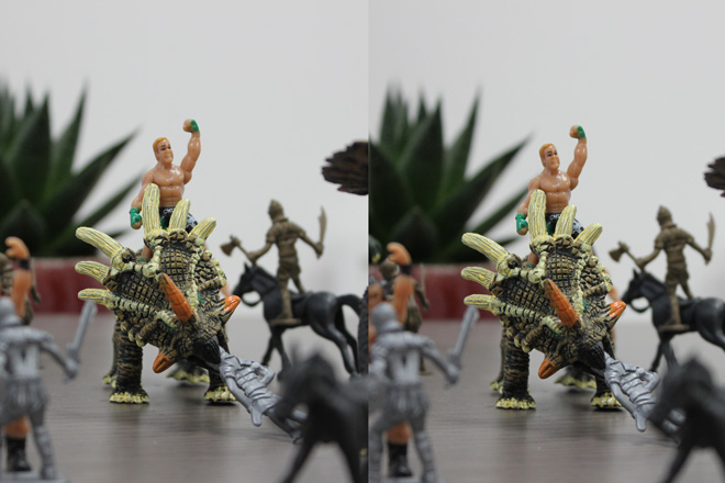 3d left and right image