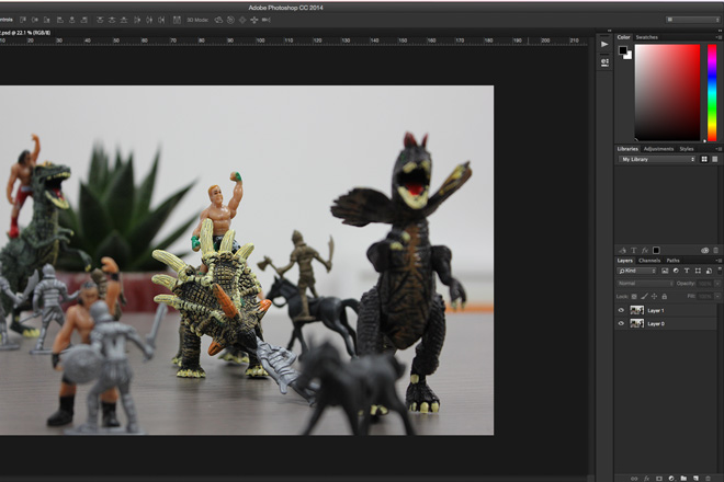 3d image photoshop method