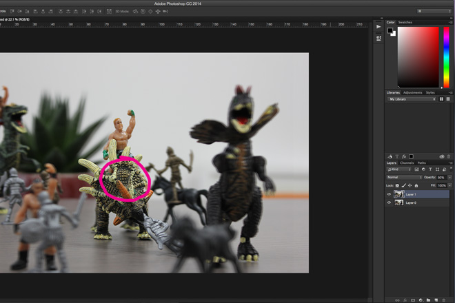 3d image photoshop alignment