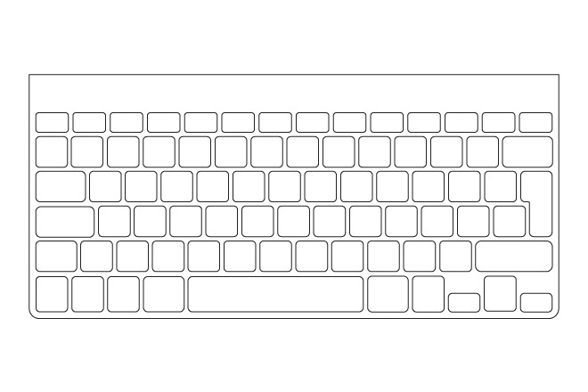 mac wireless keyboard template