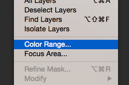 photoshop color range