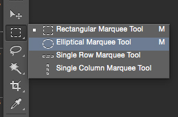 photoshop elliptical marquee tool