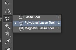 photoshop polygonal lasso tool tutorial