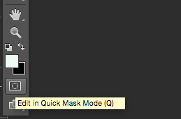 photoshop quick mask tool