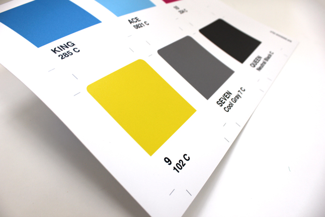 spot colour play cards