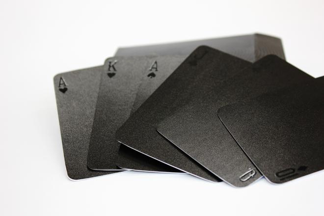 spot varnish card with box