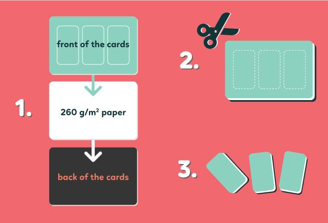 sticking procedure play cards