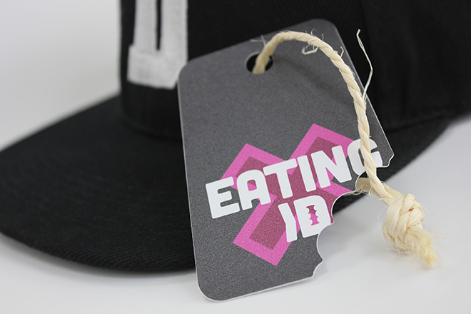 die cut peelable clothing tag stickers