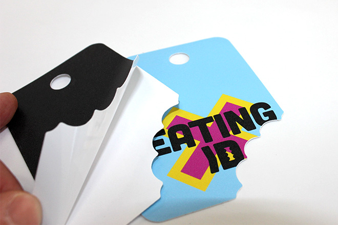 peelable clothing tag sticker